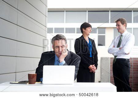 Businessman Under Stress, Fatigue And Headache