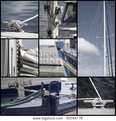 Collection Of Yacht Sailboat Details