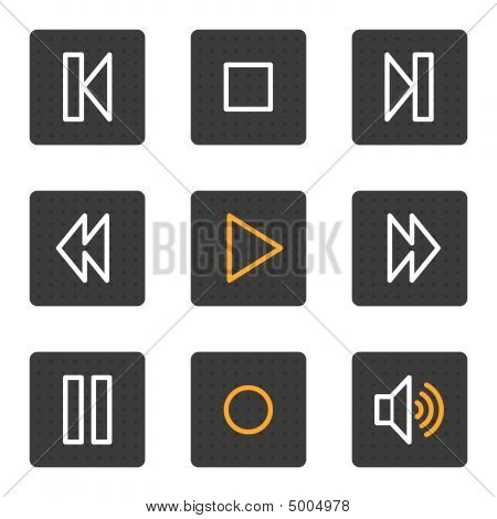 Walkman Web Icons, Grey Buttons Series