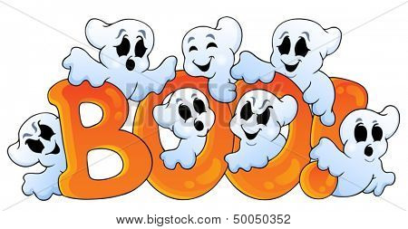Ghost theme image 7 - eps10 vector illustration.
