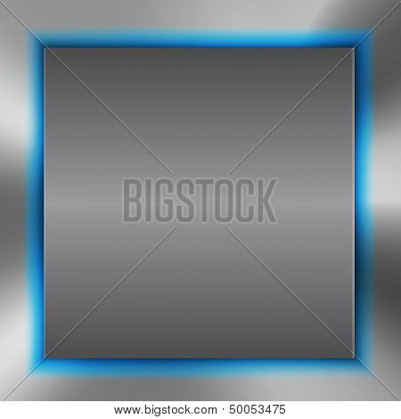 Abstract Background With Metal Inset And Blue Light