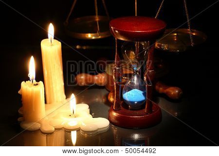 Hourglass And Candles