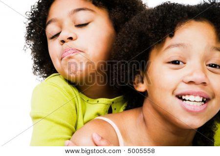 African American Girls Playing