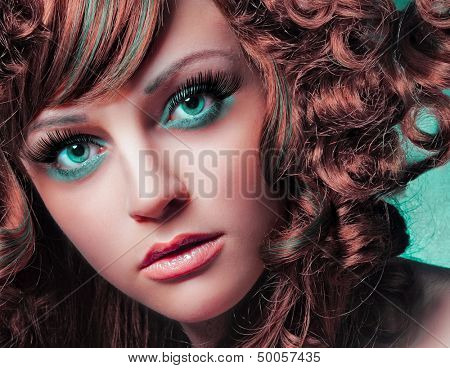 beauty portrait green eyes