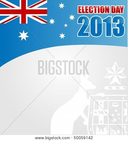 Australian election  Day Background With Emblem