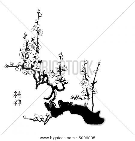 Sakura Chinese Painting