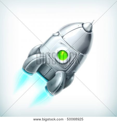 Spacecraft, vector icon