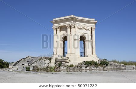 Chateau d'Eau palace - water tower in the end of aqueduct in Montpellier, France