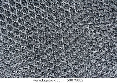 Macro metal chain link fibers. Textured background.