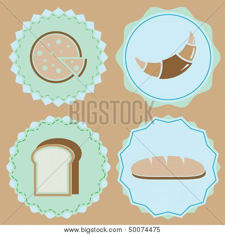 Set Of Homemade Bakery Icon Color Badges