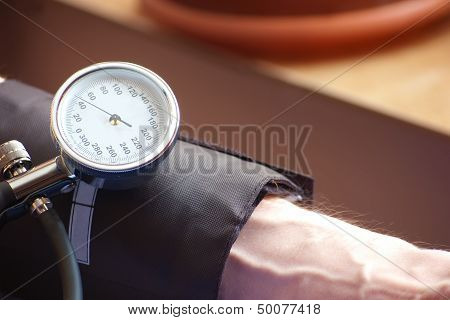 Sphygmomanometer Indicating The Low  Blood Pressure Indicating The  Blood Pressure