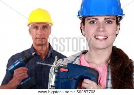 Woman holding a jigsaw