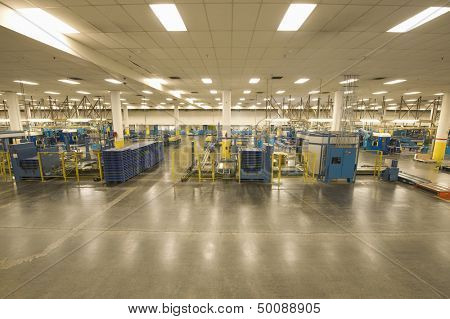 Interior view of a newspaper factory