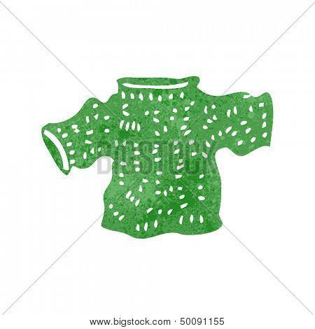 retro cartoon knitted jumper
