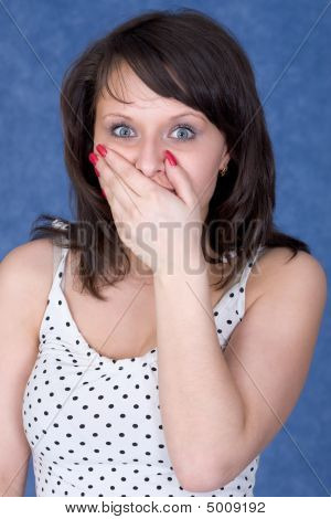Young Woman To Be Open-mouthed With Surprise