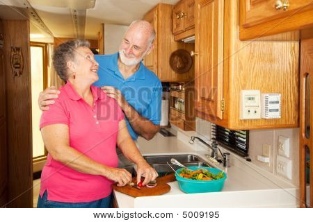 Seniors Rv - Romance In Kitchen