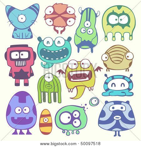 cartoon monsters