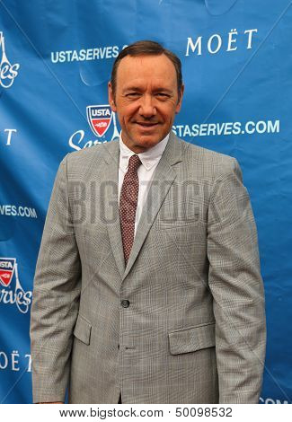 Two times Academy Award winner Kevin Spacey at the red carpet before US Open 2013 opening night