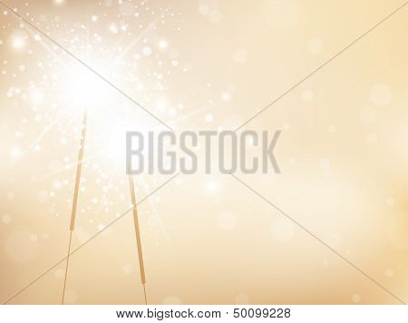 Holiday Sparklers Golden Background