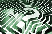 stock photo of question-mark  - a rendering of a question mark maze - JPG