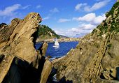 image of basque country  - View from Santa Clara Island in Donostia  - JPG