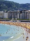 foto of basque country  - Beautiful Beach in Donostia  - JPG