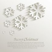 stock photo of congratulation  - vector christmas snowflake natural paper 3D template - JPG