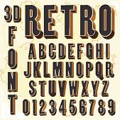 stock photo of birth  - 3D Retro type font - JPG