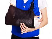 picture of physical education  - Child with broken arm - JPG