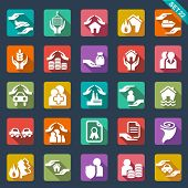 picture of life events  - Insurance  icons - JPG