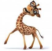 stock photo of grassland  - Fun giraffe - JPG