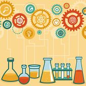 stock photo of scientific research  - Vector concept  - JPG