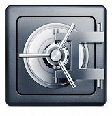 pic of vault  - high resolution 3D rendering of a bank vault symbol - JPG