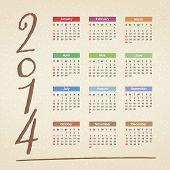 picture of calendar 2014  - 2014 Calendar  - JPG
