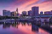 stock photo of northeast  - The skyline of downtown Hartford - JPG