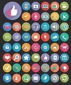picture of chat  - Vector flat icons for Web  - JPG