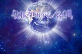 the planet Earth and astrological signs like a concept for astrology and world, geographical astrolo