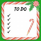 Christmas Holiday To Do List