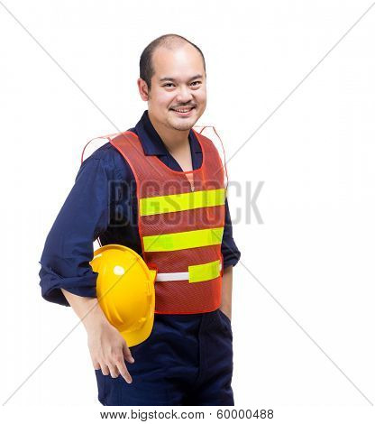 Asia construction worker