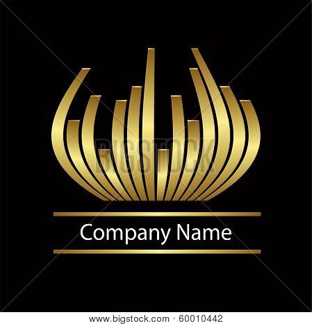 Abstract vector gold logo
