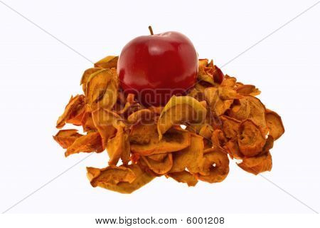 Red And Dry Apples
