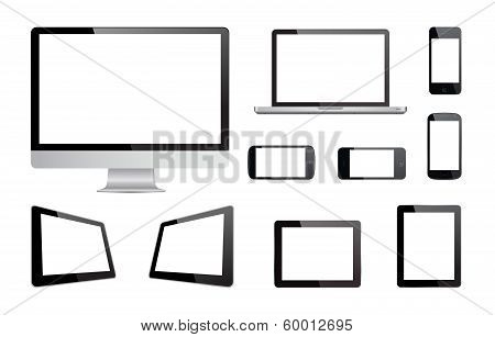 Media Devices Technology Vector