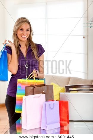 Shopping Woman With Bags