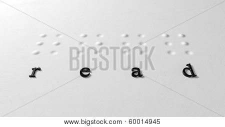 Braille Concept Read And Letters