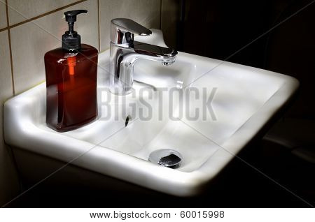 Clean White Bathroom Basin