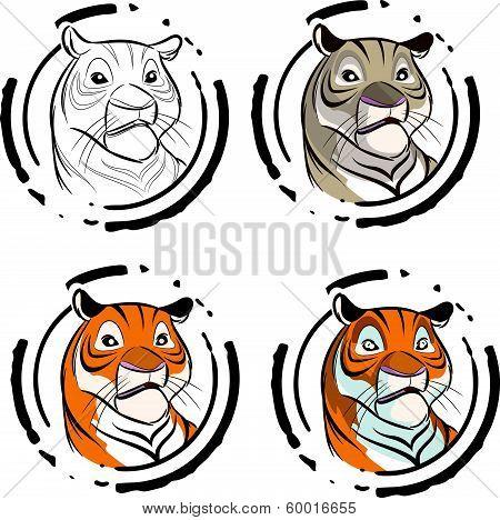 Tiger in a circle
