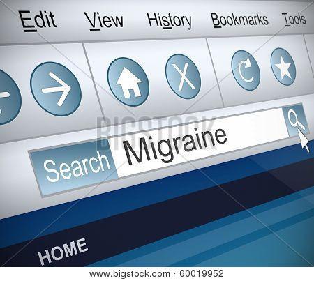 Migraine Concept.