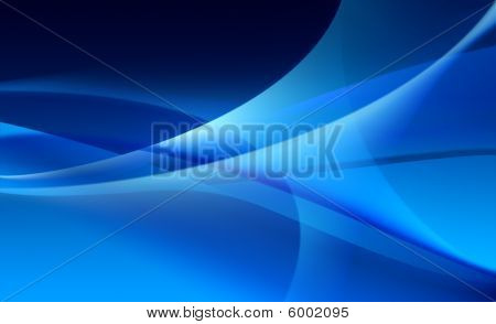 Abstract blue background / wallpaper of waves / veils texture