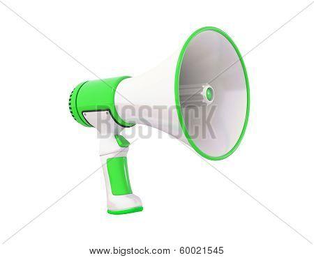 Megaphone Green Perspective