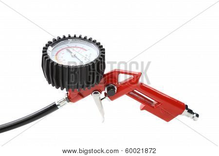Close up of manometer for car tyre.